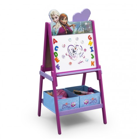 Delta Children Double Sided Wooden Art Easel With Storage - Disney Frozen
