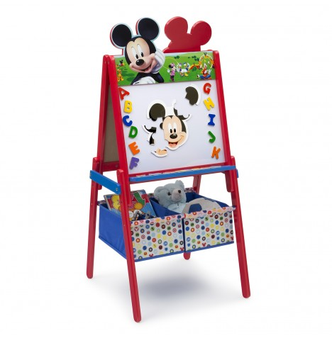 Delta Children Double Sided Wooden Art Easel With Storage - Disney Mickey Mouse