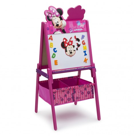 Delta Children Double Sided Wooden Art Easel With Storage - Disney Minnie Mouse
