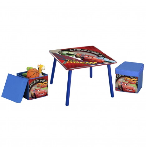 Delta Children Table & Ottoman Stools Set - Disney Pixar Cars