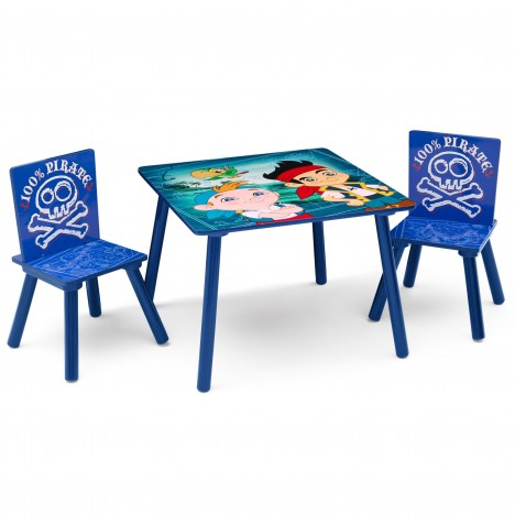 Delta Children Table & Chairs Set - Disney Jake & The Neverland Pirates