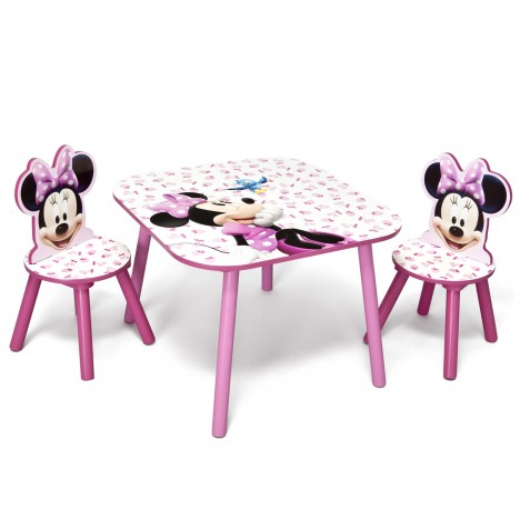 Delta Children Table & Chairs Set - Disney Minnie Mouse