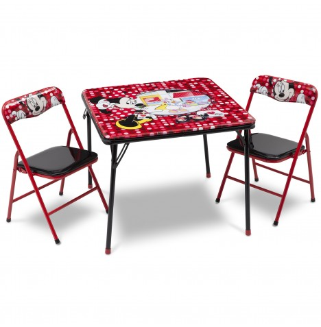 DELTA CHILDREN DISNEY MINNIE MOUSE FOLDING TABLE CHAIRS