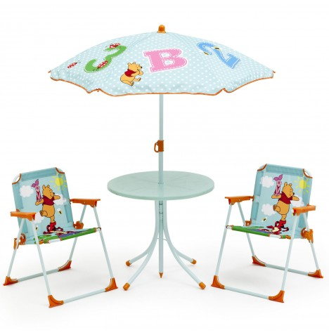 delta children disney winnie the pooh outdoor patio set table chairs umbrella. Black Bedroom Furniture Sets. Home Design Ideas