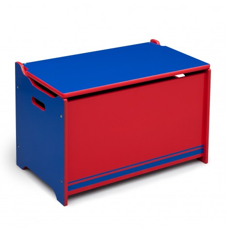 Delta Children Wooden Toy Box - Blue / Red