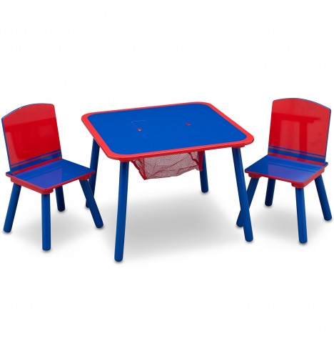Delta Children Table & Chairs Set With Storage - Blue / Red