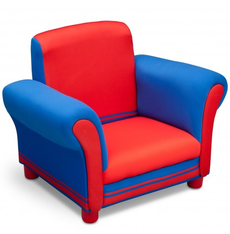 Delta Children Upholstered Chair - Blue / Red