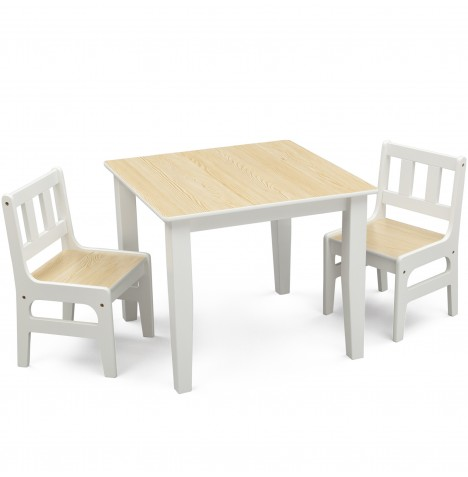 Delta Children Table & Chairs Set - Natural