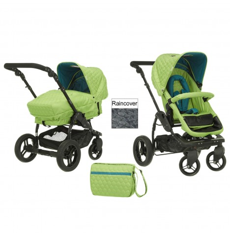 Obaby ZeZu 2in1 Pramette Pushchair - Lime Quilt