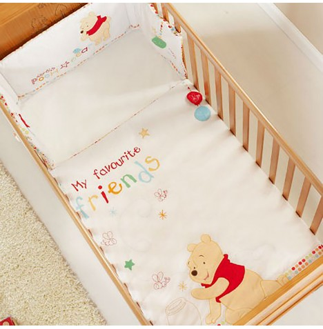 Obaby Cot / Cot Bed Quilt & Bumper Set - Winnie The Pooh