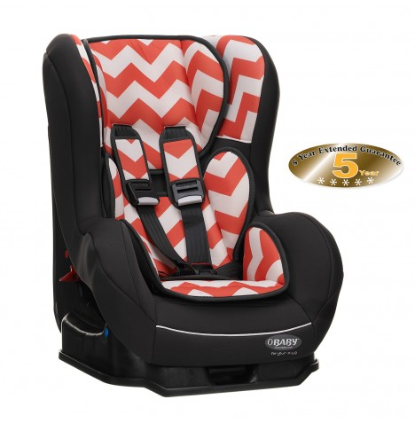 Obaby Group 0/1 Combination Car Seat - ZigZag Orange