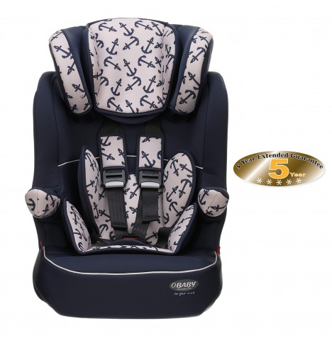 Obaby Group 123 High Back Booster Car Seat - Little Sailor