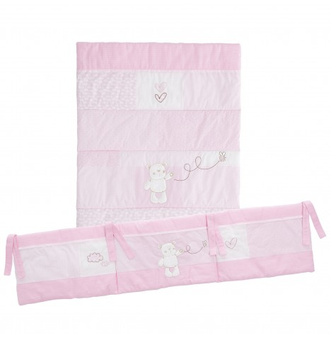 Obaby B Is For Bear 3 Piece Crib Bedding Set - Pink