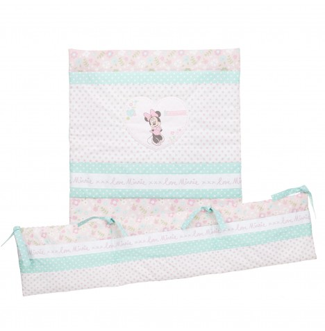 Obaby Disney Minnie Mouse 3 Piece Crib Bedding Set - Pink