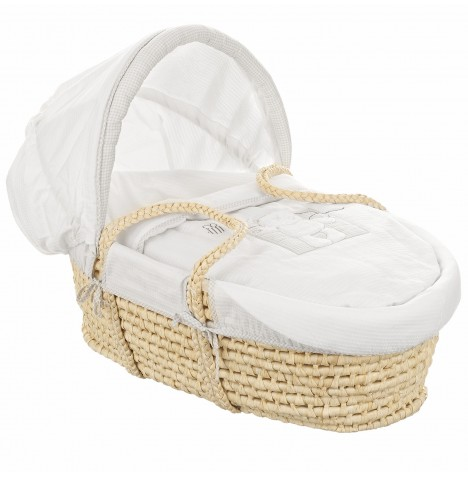 Obaby B Is For Bear Moses Basket - White