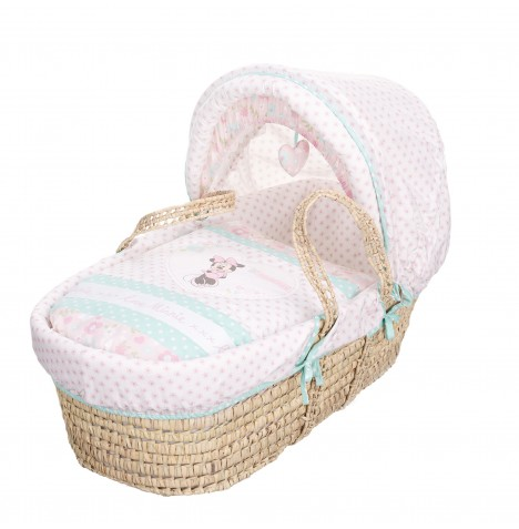 Obaby Disney Minnie Mouse Moses Basket - Pink
