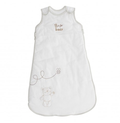 Obaby B Is For Bear Sleeping Bag 0 - 6 Months - White
