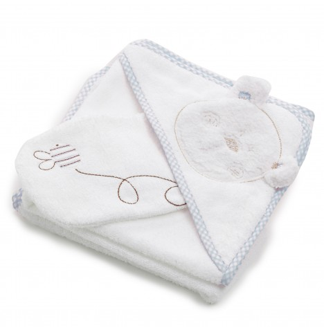 Obaby B Is For Bear Hooded Towel & Washmitt - Blue