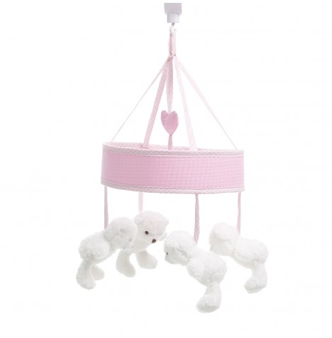 Obaby B Is For Bear Musical Cot / Cot Bed Mobile - Pink