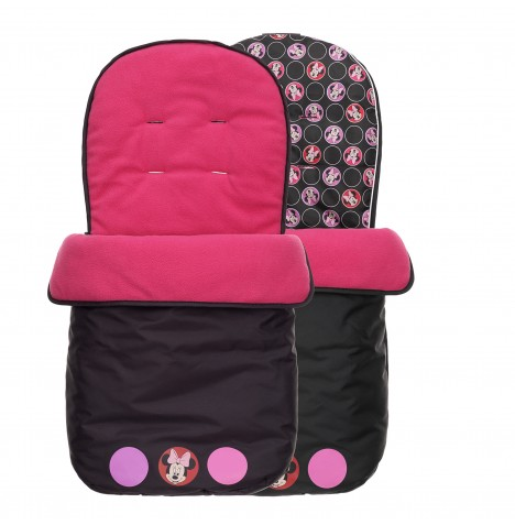 Obaby Disney Pushchair Footmuff - Minnie Circles Pink