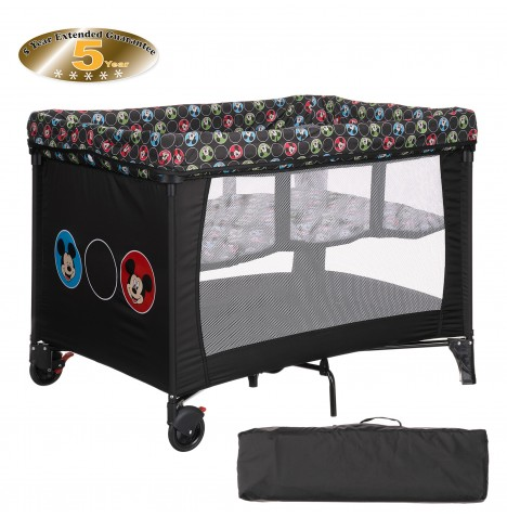 Obaby Disney Bassinette Travel Cot - Mickey Circles
