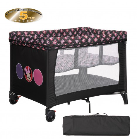 Obaby Disney Bassinette Travel Cot - Minnie Circles