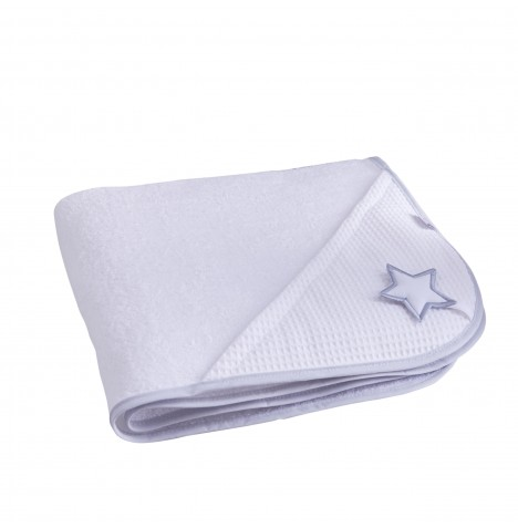 Clair De Lune Luxury Hooded Towel - Silver Lining