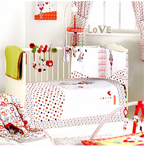 Red Kite Deluxe 5 Piece Cosi Cot / Cot Bed Bedding Set - Cotton Tail
