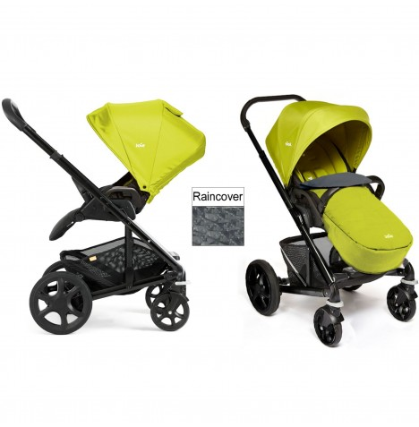 Joie Chrome Plus Black Frame Pushchair (With Colour Pack) - Green