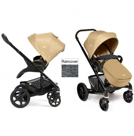 Joie Chrome Plus Black Frame Pushchair (With Colour Pack) - Sand