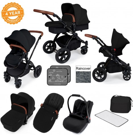 Ickle bubba Stomp V3 Black All In One Travel System - Black