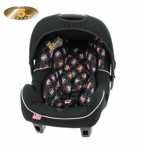 Obaby Disney Group 0+ Infant Carrier Car Seat (With Adapters) - Minnie Circles