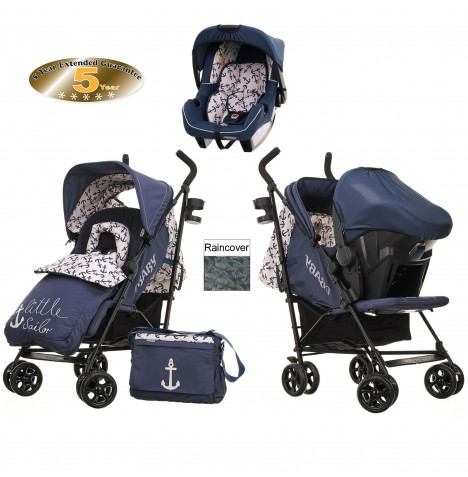 Obaby Zeal Travel System - Little Sailor