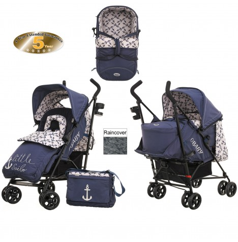 Obaby Zeal Stroller With Carrycot - Little Sailor