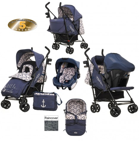 Obaby Zeal Travel System & Carrycot - Little Sailor