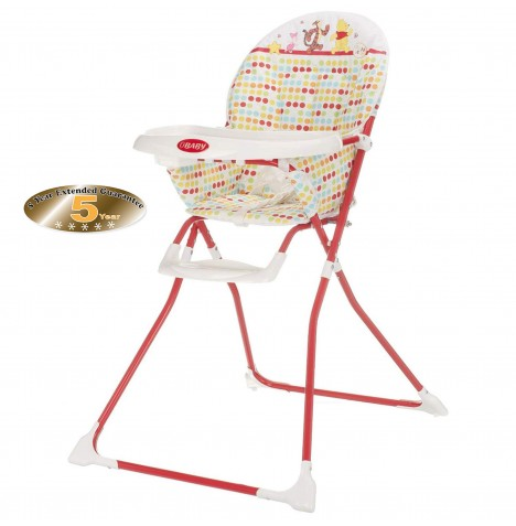 Obaby Disney Munchy Highchair - Winnie The Pooh Red