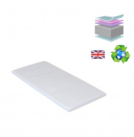 4baby Swinging Crib Mattress 84 x 43 cm - Fibre