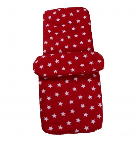 Clair de Lune Star Fleece Pushchair Footmuff - Red