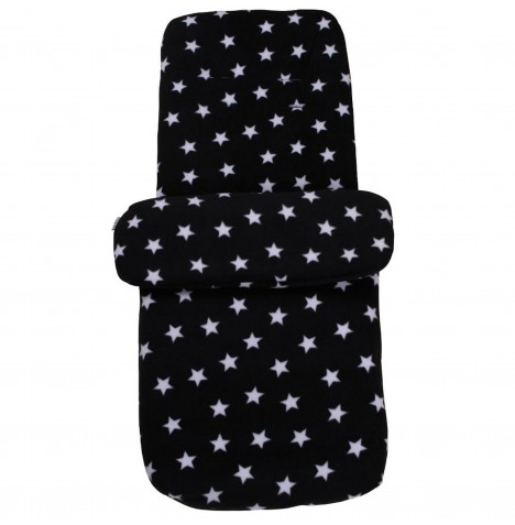 Clair de Lune Star Fleece Pushchair Footmuff - Black