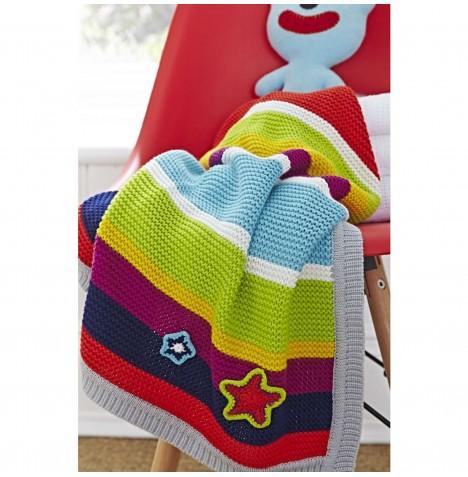 Knitting Pattern Moses Basket Blanket : Clair De Lune Pick n Mix Knitted Pram / Moses Basket / Crib Blanket - Multi ...