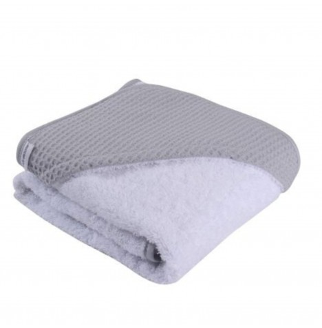 Clair De Lune Luxury Hooded Towel - Waffle Grey