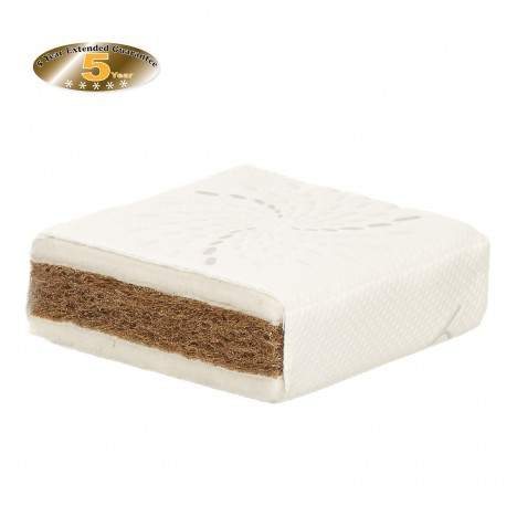 Obaby Natural Coir / Wool Cot Bed Safety Mattress 140 x 70cm