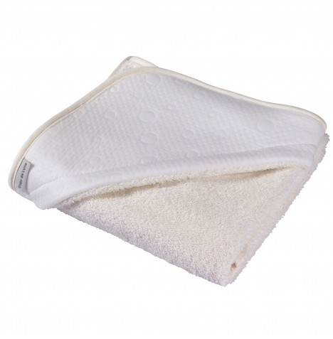 Clair De Lune Luxury Hooded Towel - Cotton Candy Ivory White