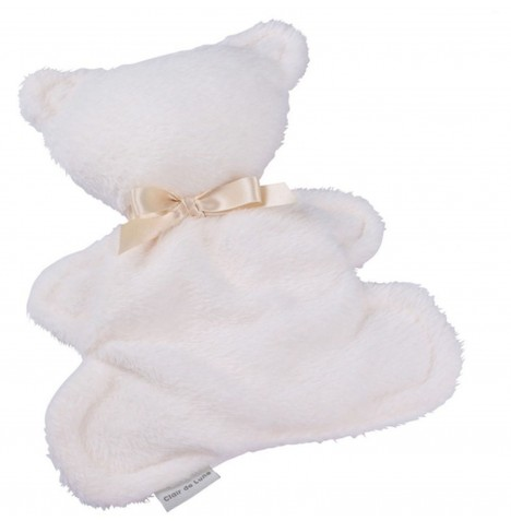 Clair de Lune Mine to Keep Plush Bear Comforter - Cream