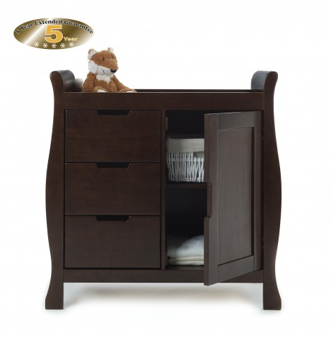 Obaby Closed Stamford Changing Unit - Walnut