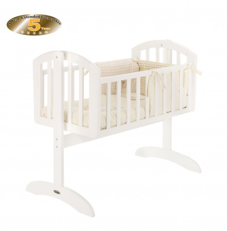 Obaby Sophie Swinging Crib - White