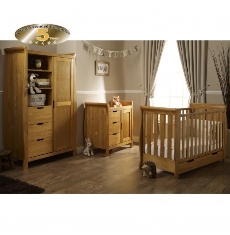 Obaby Stamford Mini 4 Piece Room Set - Country Pine