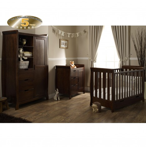 Obaby Stamford Mini 4 Piece Room Set - Walnut