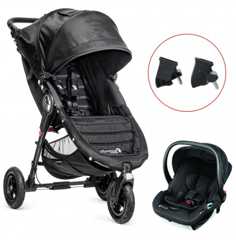 Baby Jogger City Mini GT Travel System - Black