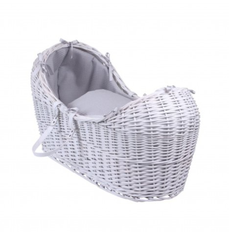 Clair De Lune White Wicker Noah Pod - Waffle Grey